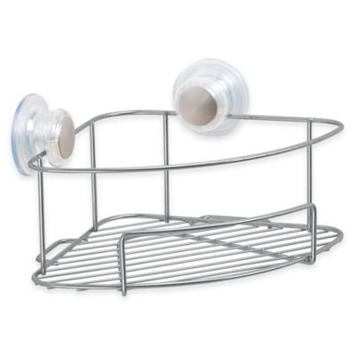 InterDesign® Turn-N-Lock Corner Suction Basket
