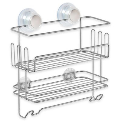 InterDesign® Turn-N-Lock 2-Tier Suction Combo Basket