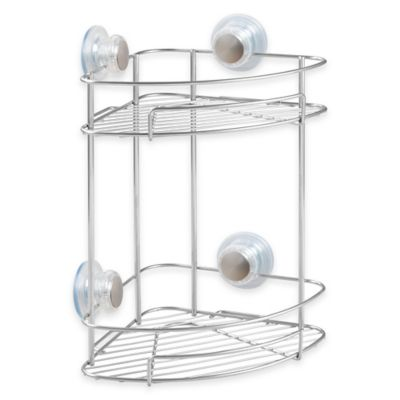 InterDesign® Turn-N-Lock 2-Tier Suction Corner Basket