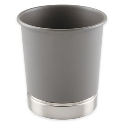 InterDesign® York Wastebasket in Matte Grey
