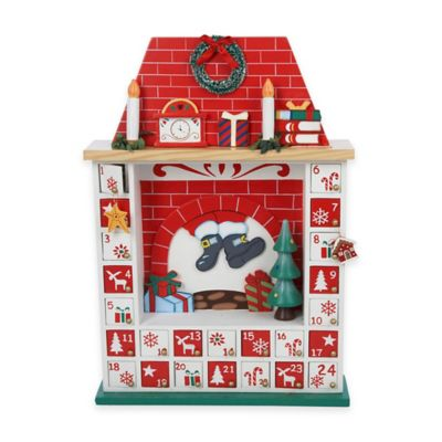 Kurt Adler15-Inch Chimney Christmas Advent Calendar with Ornaments