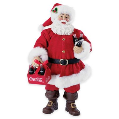 Kurt Adler 9-Inch Santa Figurine with Coca-Cola® 6-Pack