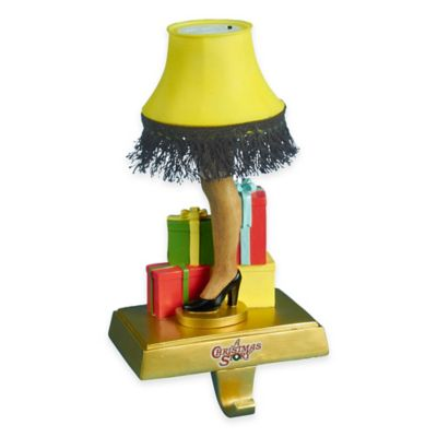Kurt Adler 9-Inch Light-Up Leg Lamp Stocking Holder