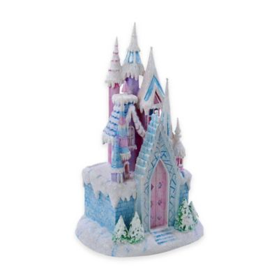 Kurt Adler 12-Inch LED Ice Castle Tablepiece