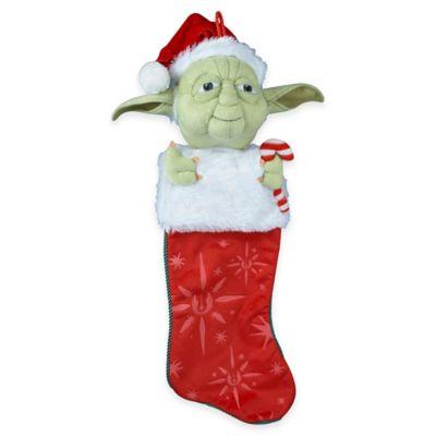 Kurt Adler Star Wars™ 22-Inch Yoda with Candy Cane Plush Head Stocking