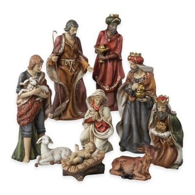 Kurt Adler 9-Piece Nativity Set