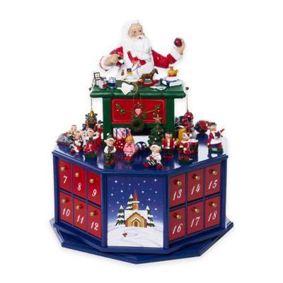 Kurt Adler Santa's Workshop Wooden Musical Advent Calendar