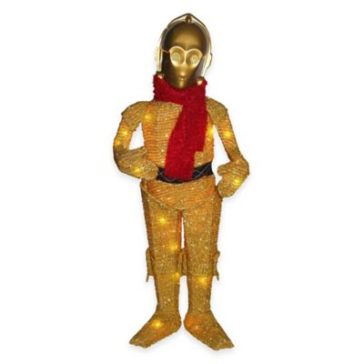 Kurt Adler 28-Inch Star Wars™ Pre-Lit C3PO Lawn Decoration