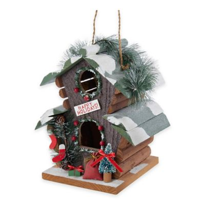 Kurt Adler 9-Inch Wooden Christmas Birdhouse Ornament