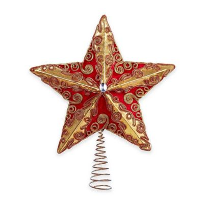 Kurt Adler 13.5-Inch Red and Gold Treetop