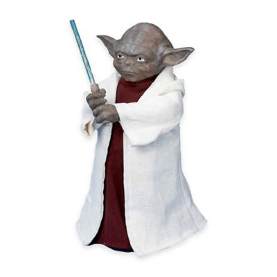 Kurt Adler 12-Inch Star Wars Yoda Battery-Operated Tree Topper with LED Light Saber