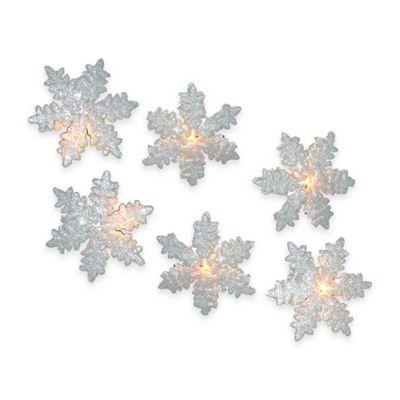 Kurt Adler 10-Light White Snowflake Light Set