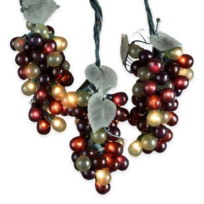 Kurt Adler 100-Light 5 Cluster Grapevine Light Set in Multicolor