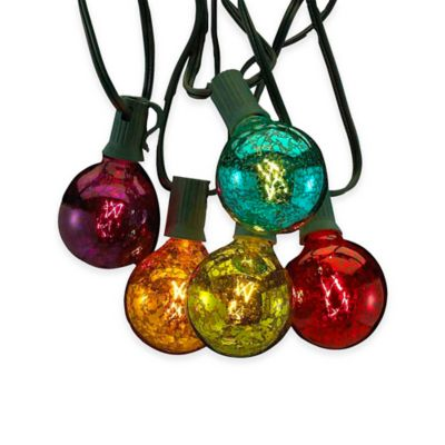 Kurt Adler 10-Light Novelty Glass Light Set in Multi-Color
