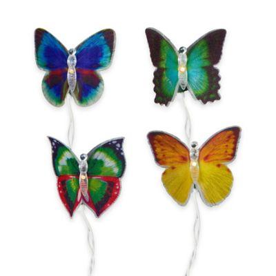 Kurt Adler 10-Light Fiber Optic Butterfly String Light Set