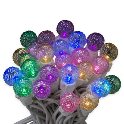 Kurt Adler 50-Light LED Faceted Novelty Light Set in Multicolor