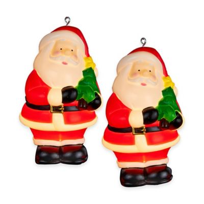 Kurt Adler 4-Light Santa Holding Christmas Tree Light Set