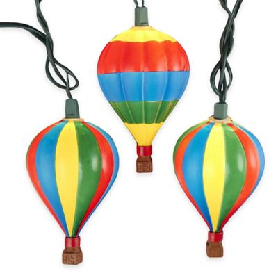Kurt Adler 10-Light Hot Air Balloon Light Set