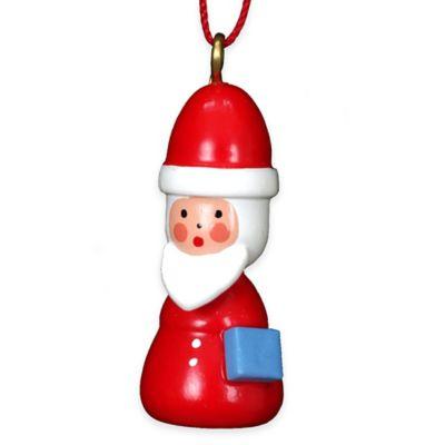 Christian Ulbricht 1.5-Inch Santa Ornament in Red