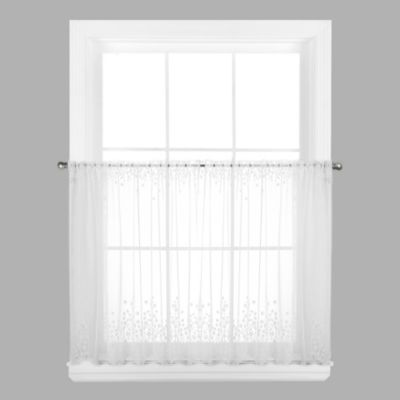 Blossom 24-Inch Window Curtain Tier in Ecru