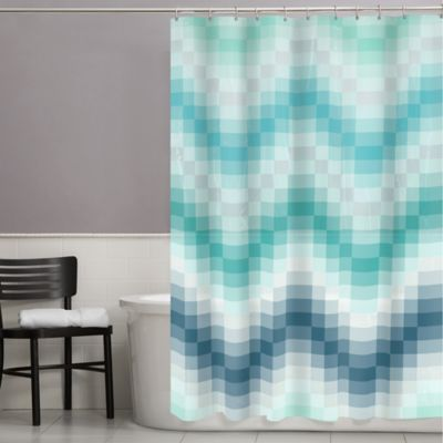 Chevron Tiles PEVA Shower Curtain