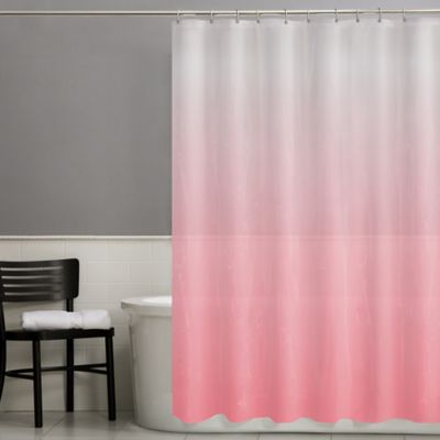 Happy PEVA Shower Curtain in Coral
