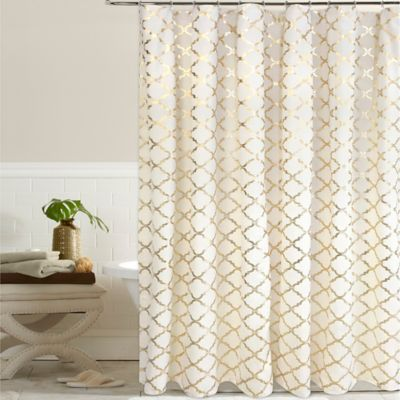 Gold Cotton Shower Curtains