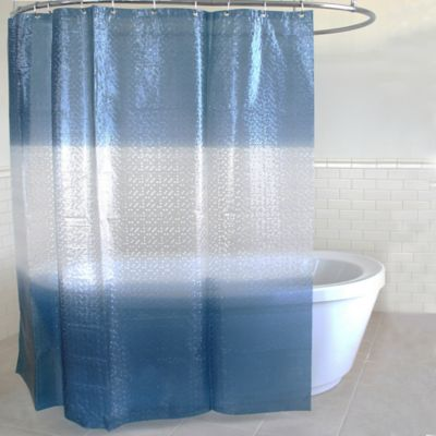 Drizzle PEVA Shower Curtain in Navy