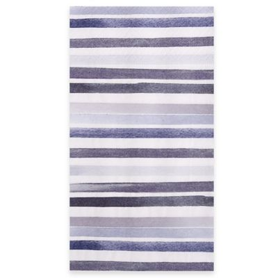 Blue White Striped Towels