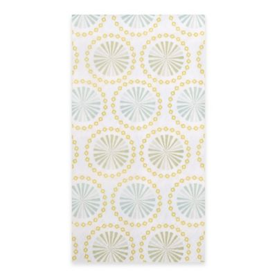 Starburst Print 15-Count Paper Guest Towels in Yellow/White