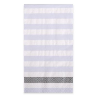Kenzie Stripe 15-Count Paper Guest Towels in White/Blue