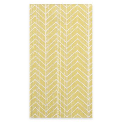 Chevron Stripe 15-Count Paper Guest Towels in Gold