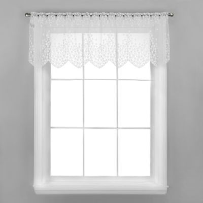 Blossom Window Valance in Ecru