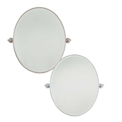 Minka Lavery® 25.5-Inch x 32-Inch Oval Mirror in Chrome