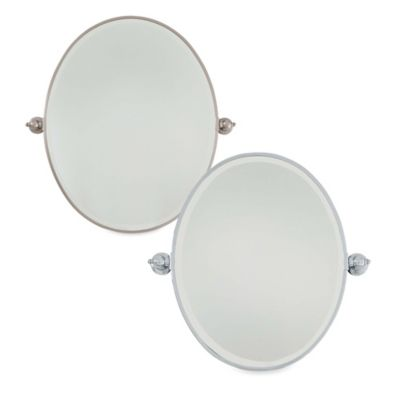 Brushed Nickel Oval Mirror