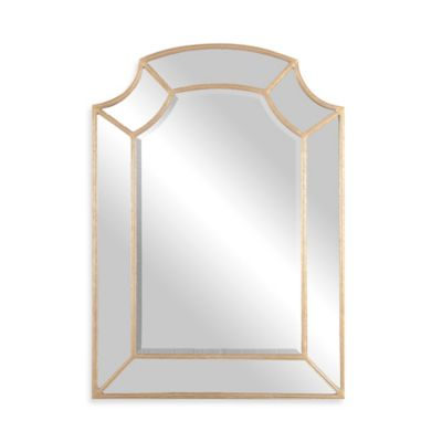 Gold Leaf Arched Mirror