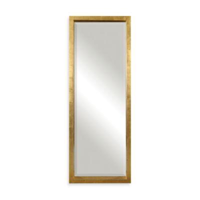 Uttermost 27.5-Inch x 75.5-Inch Edmonton Rectangular Floor Mirror in Gold