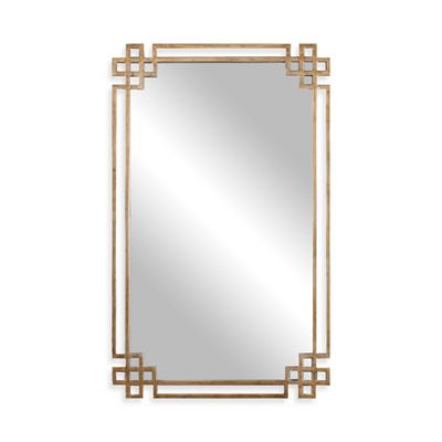 Uttermost 22.75-Inch x 37-Inch Devoll Rectangular Mirror in Antique Gold