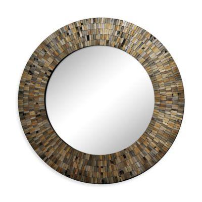Ren-Wil 24-Inch Aventurine Round Mirror