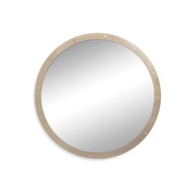 Ren-Wil 36-Inch Hudson Round Mirror in Gold