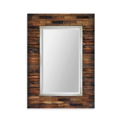 Ren-Wil Pretoria 30-Inch x 42-Inch Rectangular Mirror in Brown