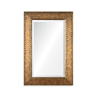 Ren-Wil 24-Inch x 36-Inch Cavalier Rectangular Mirror in Gold