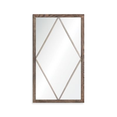 Brown / Silver Rectangular Mirror