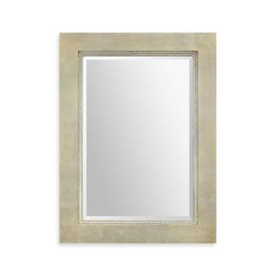 Ren-Wil 34-Inch x 46-Inch Valentina Rectangular Mirror in Silver