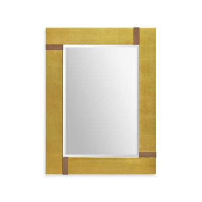 Ren-Wil 30-Inch x 40-Inch Marilyn Rectangular Mirror in Gold