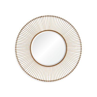 Ren-Wil Buchanan 38-Inch Round Mirror in Gold
