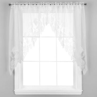 Woodland Window Swag in White