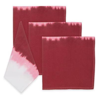 Red Dip-Dye Napkins