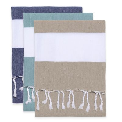 Modern Living Kitchen Towel in Navy