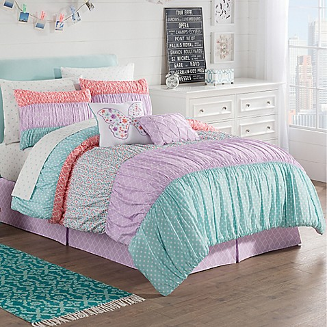 Zoe Reversible Comforter Set In Purple Bed Bath Amp Beyond